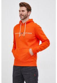 TOMMY HILFIGER - Tommy Hilfiger - Bluza. Okazja: na co dzień. Kolor: pomarańczowy. Styl: casual