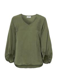 Freequent Bluzka Nicco khaki female zielony S (38). Typ kołnierza: dekolt w serek. Kolor: zielony. Materiał: tkanina. Długość: długie. Styl: elegancki