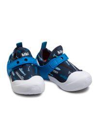 Niebieskie półbuty Bibi z nadrukiem