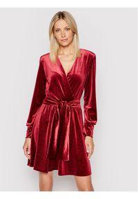 MAX&Co. Sukienka koktajlowa Perla 86219521 Bordowy Regular Fit. Kolor: czerwony. Styl: wizytowy