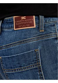 Niebieskie jeansy slim Elisabetta Franchi