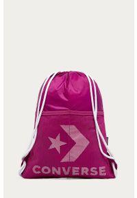 Fioletowy plecak Converse z nadrukiem