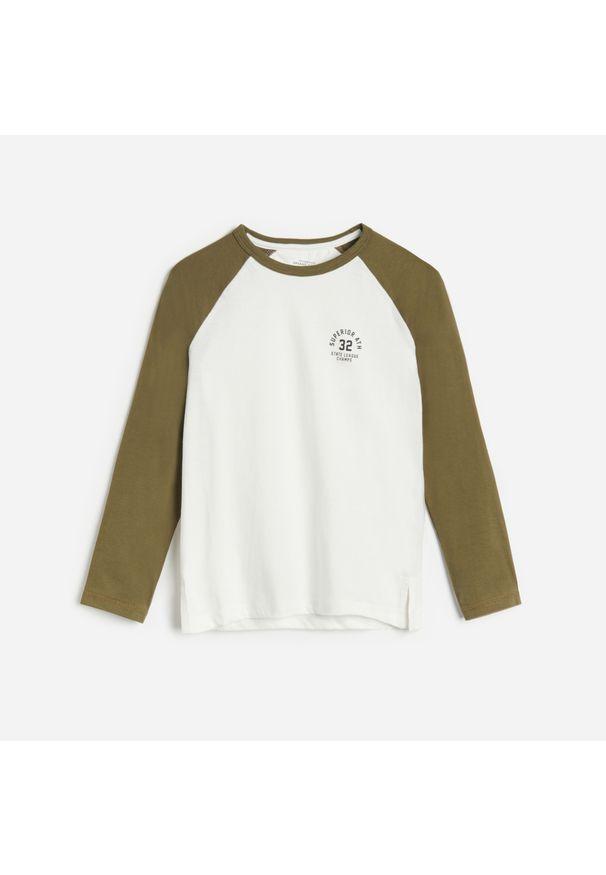 Koszulka z długim rękawem Reserved z nadrukiem