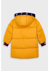 Żółta kurtka Mayoral na co dzień, casualowa, z kapturem