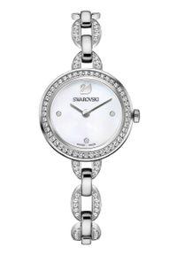 Swarovski - Zegarek Aila Mini. Kolor: srebrny. Materiał: materiał