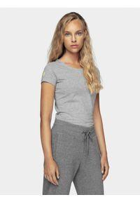 4f - T-shirt damski z kolekcji LIME LINE. Kolor: szary. Materiał: dzianina, bawełna