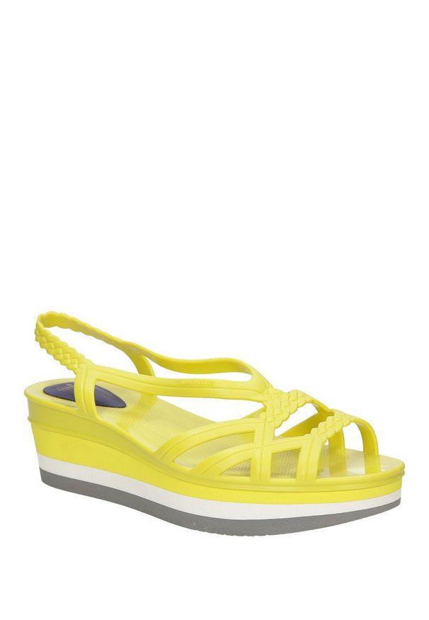 Żółte meliski Lemon Jelly na lato, na co dzień, z cholewką