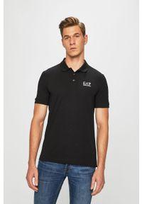 Czarna koszulka polo EA7 Emporio Armani polo, krótka