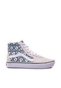 Vans - Sneakersy VANS - Comfycush Sk8-Hi VN0A3WMB9KR1 (Mixed Cozy) Mrshmlwpastel. Kolor: beżowy. Materiał: zamsz, materiał, skóra