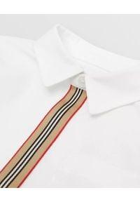 BURBERRY CHILDREN - Biała koszula z bawełny 0-2 lat. Kolor: biały. Materiał: bawełna. Długość rękawa: długi rękaw. Długość: długie. Sezon: lato. Styl: klasyczny
