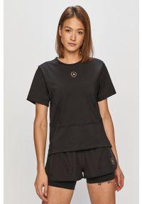 Adidas by Stella McCartney - adidas by Stella McCartney - T-shirt. Okazja: na co dzień. Kolor: czarny. Materiał: dzianina. Długość: długie. Wzór: gładki. Styl: casual