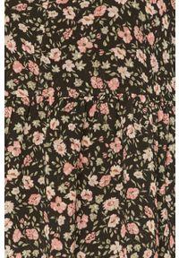 Czarna sukienka Haily's na co dzień, mini, casualowa, w kwiaty
