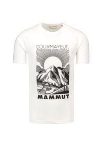 Mammut - T-shirt MAMMUT MOUNTAIN. Materiał: tkanina, materiał. Długość rękawa: raglanowy rękaw. Wzór: nadruk. Sport: fitness, outdoor
