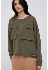 Mos Mosh - Bluza. Kolor: zielony. Materiał: bawełna, dzianina