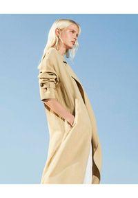 Beżowy płaszcz TwinSet na co dzień, casualowy, z długim rękawem