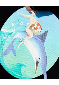PALM ANGELS - Bluza z nadrukiem Fishing Club. Kolor: czarny. Materiał: bawełna. Długość rękawa: długi rękaw. Długość: długie. Wzór: nadruk. Styl: klasyczny