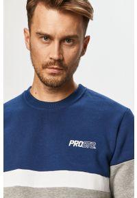 Szara bluza nierozpinana Prosto. bez kaptura, casualowa, z aplikacjami, na co dzień