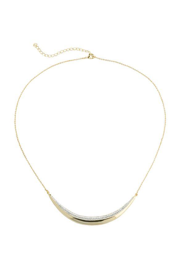 Łańcuszek z kryształami Swarovskiego® bonprix pozłacany