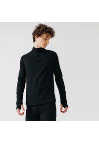 KALENJI - Bluza do biegania męska Kalenji Run Warm ocieplana. Kolor: czarny. Materiał: poliester, elastan, materiał. Sport: bieganie