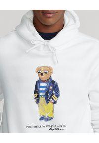 Ralph Lauren - RALPH LAUREN - Biała bluza z misiem Marina Polo Bear. Typ kołnierza: polo. Kolor: biały. Długość rękawa: długi rękaw. Długość: długie. Wzór: nadruk