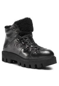 Czarne buty trekkingowe Bogner z cholewką