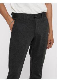 Only & Sons - ONLY & SONS Spodnie materiałowe Mark 22010209 Szary Slim Fit. Kolor: szary. Materiał: materiał
