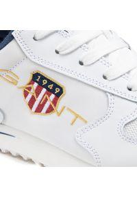 Białe sneakersy GANT na co dzień, z cholewką