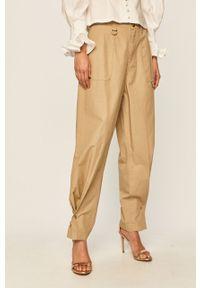Spodnie materiałowe Miss Sixty z podwyższonym stanem