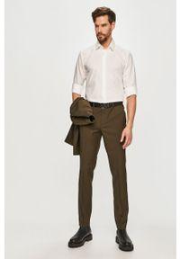 Biała koszula Hugo z długim rękawem, klasyczna, gładkie, z klasycznym kołnierzykiem