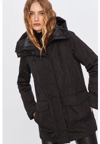 Czarna kurtka Answear Lab długa, na co dzień, wakacyjna, z kapturem