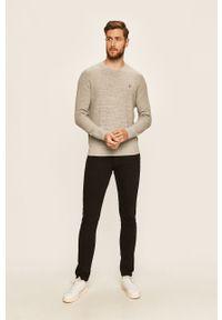 Szary sweter Polo Ralph Lauren długi, z długim rękawem, polo