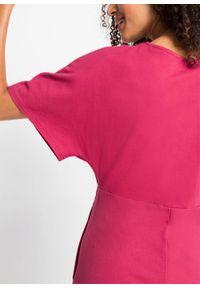 Długa sukienka o strukturze waflowej pique bonprix czerwień granatu. Kolor: czerwony. Długość: maxi