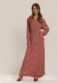 Czerwona długa sukienka Renee