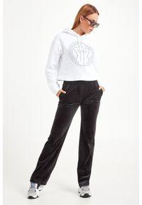 Biała bluza Emporio Armani z kapturem, krótka, na co dzień