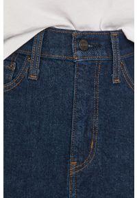 Niebieska spódnica Levi's® casualowa, na co dzień, z podwyższonym stanem