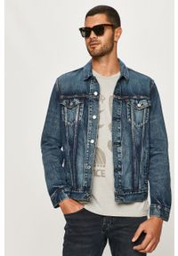 Niebieska kurtka Levi's® w kolorowe wzory, bez kaptura