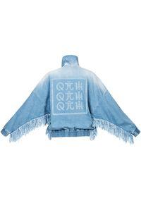 ROBERT KUPISZ - Jeansowa kurtka oversize Orient Rising Sun Jeans. Kolor: niebieski. Materiał: jeans. Wzór: aplikacja, nadruk