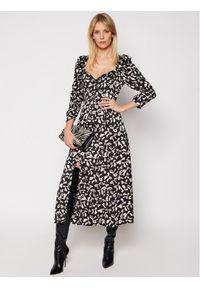 For Love & Lemons Sukienka codzienna Angelica CD2315 Czarny Slim Fit. Okazja: na co dzień. Kolor: czarny. Typ sukienki: proste. Styl: casual