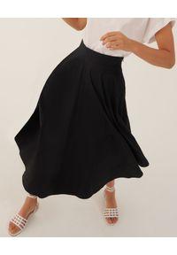 Marella - MARELLA - Czarna rozkloszowana spódnica Pianola. Stan: podwyższony. Kolor: czarny. Materiał: bawełna