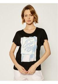 Guess T-Shirt Glamour Tee W0GI50 K46D0 Czarny Regular Fit. Kolor: czarny. Styl: glamour