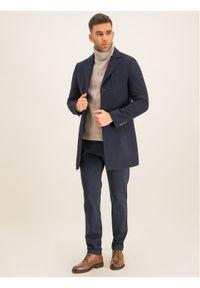 Roy Robson Spodnie materiałowe 941-51 Granatowy Slim Fit. Kolor: niebieski. Materiał: materiał