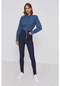 Polo Ralph Lauren - Koszula jeansowa. Okazja: na co dzień. Typ kołnierza: polo. Kolor: niebieski. Materiał: jeans. Długość rękawa: długi rękaw. Długość: długie. Wzór: gładki. Styl: casual