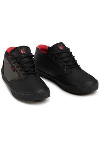 Czarne buty sportowe Etnies na co dzień, Thinsulate, z cholewką