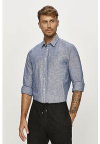 Niebieska koszula Tommy Hilfiger Tailored z długim rękawem, z klasycznym kołnierzykiem, casualowa, długa