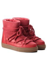 Inuikii - Buty INUIKII - Sneaker Classic 60202-1 Red. Kolor: czerwony. Materiał: zamsz, skóra. Szerokość cholewki: normalna