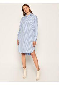 Niebieska sukienka koszulowa Polo Ralph Lauren polo
