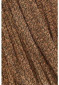 Liu Jo - Sukienka. Kolor: brązowy. Materiał: tkanina. Typ sukienki: rozkloszowane, plisowane