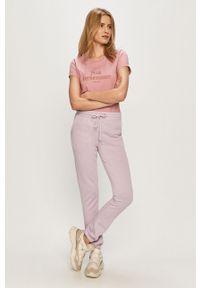 Fioletowe spodnie dresowe Haily's melanż