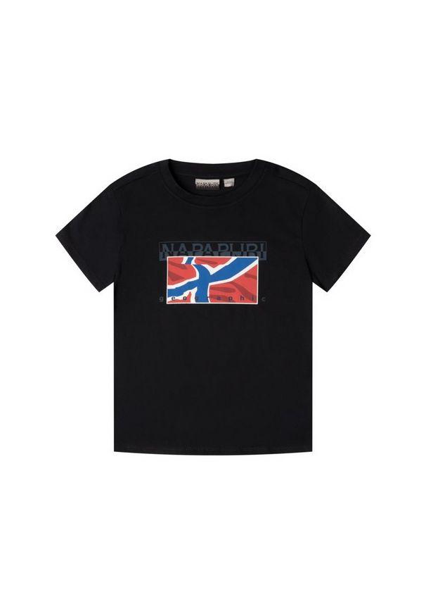 Czarny t-shirt Napapijri