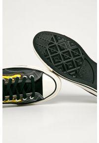 Czarne niskie trampki Converse na sznurówki, z cholewką